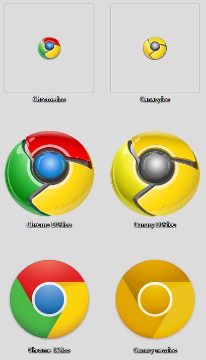 Chrome新旧图标